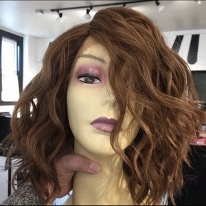 Copper ginger brown short curly bob wig Lace 2020
